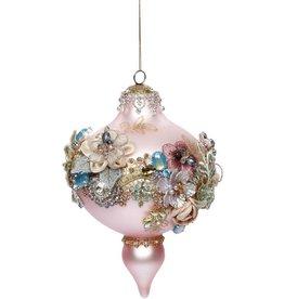 Vintage Floral Kings Jewel Ornament 7.5 Inch PK