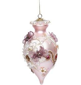 Vintage Floral Kings Jewel Finial Ornament 8.5 Inch PK