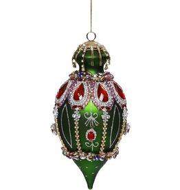 Vintage Floral Kings Jewel Finial Ornament 8.5 Inch DGRN