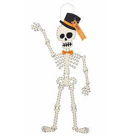 Mud Pie Halloween Skeleton Door Hanger Creep It Real