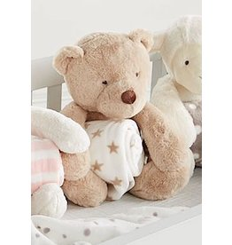 Mud Pie New Baby Gifts Plush Teddy Bear With Baby Blanket