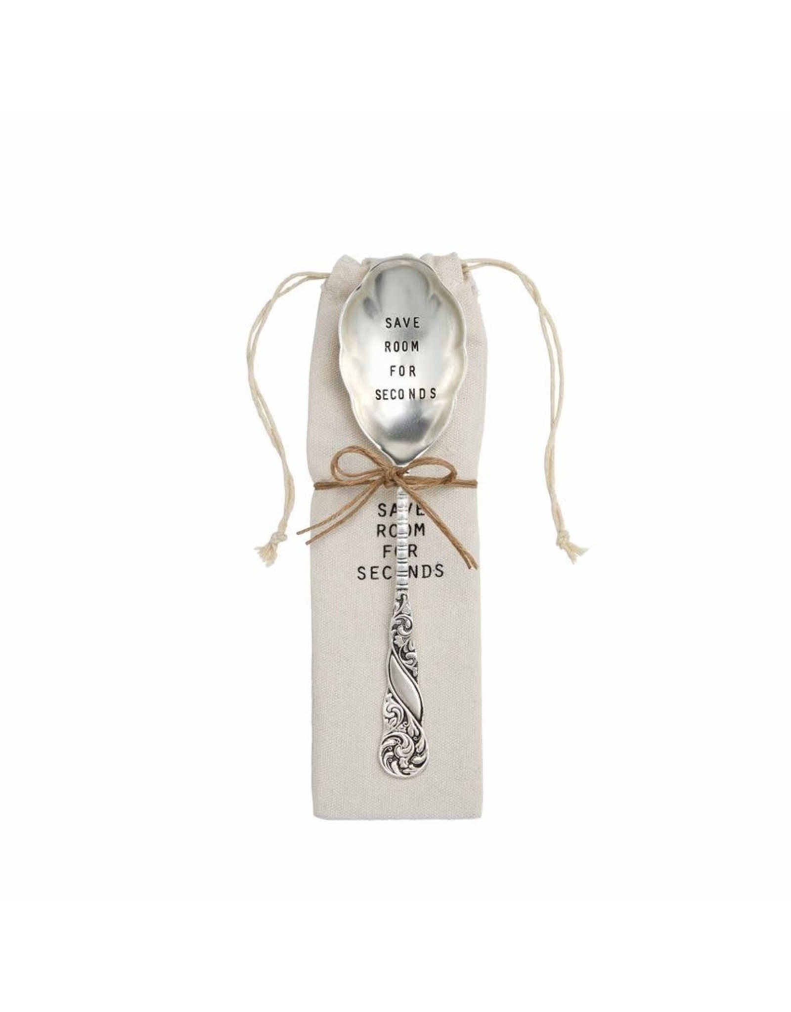 Mud Pie Thanksgiving Serving Spoon In Gift Pouch Save Room For Seconds