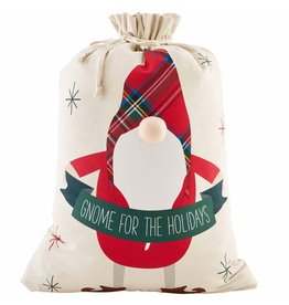 Mud Pie Christmas Gnome Gift Sack 32x22 Gnome For The Holidays