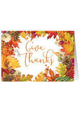 Caspari Thanksgiving Card Give Thanks