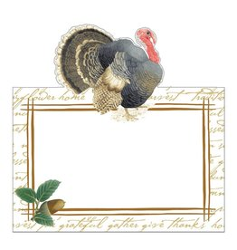Caspari Thanksgiving Place Cards Tent Style 8pk Founders Thanksgiving
