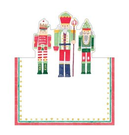 Caspari Christmas Place Cards Tent Style 8pk March Of The Nutcrackers