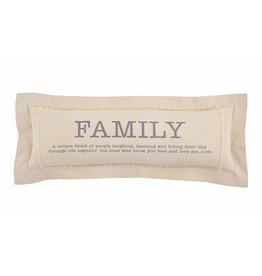 Mud Pie Family Definition Pillow Long Canvas Pillow