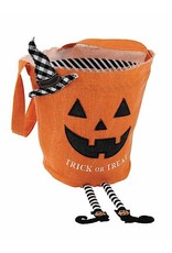 Mud Pie Halloween Candy Bag Pumpkin With Trick Or Treat