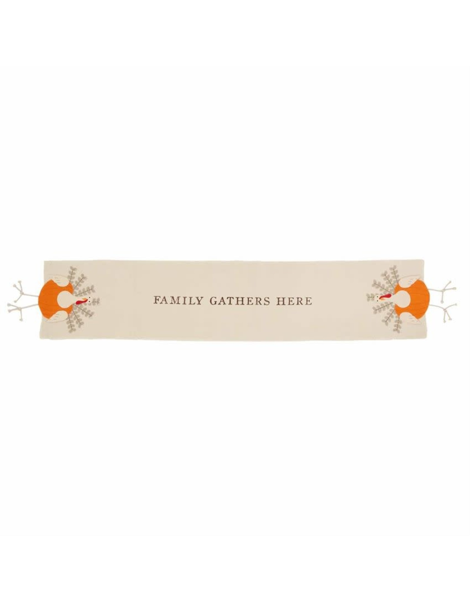 Mud Pie Thanksgiving Table Runner Turkey With Dangling Legs