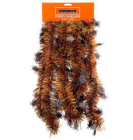 Darice Halloween Tinsel Garland 12FT With Spiders