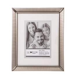Darice Brushed Pewter Picture Frame 8x10 Matted to 5x7