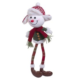Darice Snowman Christmas Character Shelf Sitter Decoration