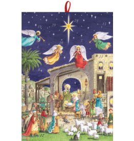 Caspari Christmas Advent Calendar Nativity With Angels