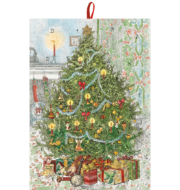 Caspari Christmas Advent Calendar Candlelit Tree With Gifts