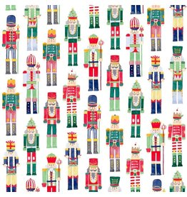 Caspari Christmas Gift Wrapping Paper 8ft Roll March Of The Nutcrackers