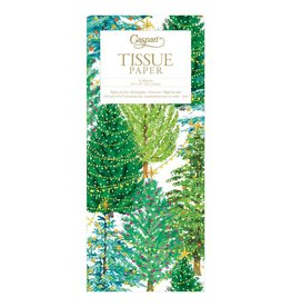 Caspari Christmas Gift Tissue Paper 4 Sheets Christmas Trees W Lights