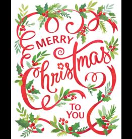 Caspari Merry Christmas To You Boxed Christmas Cards 16pk