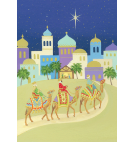 Caspari Three Kings And Camels Boxed Christmas Cards 16pk