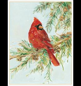 Caspari Cardinal Boxed Christmas Cards 16pk