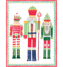 Caspari March Of The Nutcrackers Boxed Christmas Cards 16pk