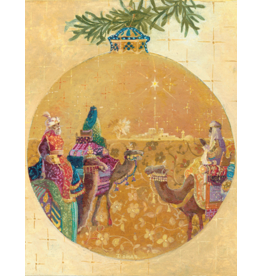Caspari Three Kings Ornament Boxed Christmas Cards 16pk