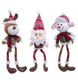 Darice Christmas Character Shelf Sitters Decoration 3 Assorted