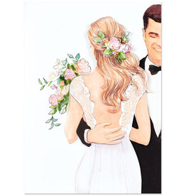 PAPYRUS® Wedding Cards Couple In Love By Lela Rose