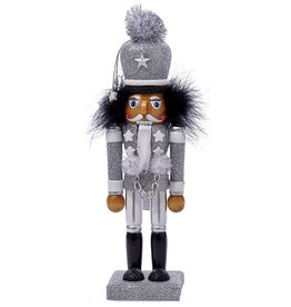 Kurt Adler Hollywood Nutcracker Soldier Decoration 10.5 Inch Silver