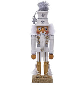 Kurt Adler Hollywood Nutcracker Soldier Decoration 10.5 Inch White