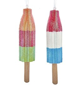 Kurt Adler Ice Rocket Pop Popsicle Ornaments 2 Assorted