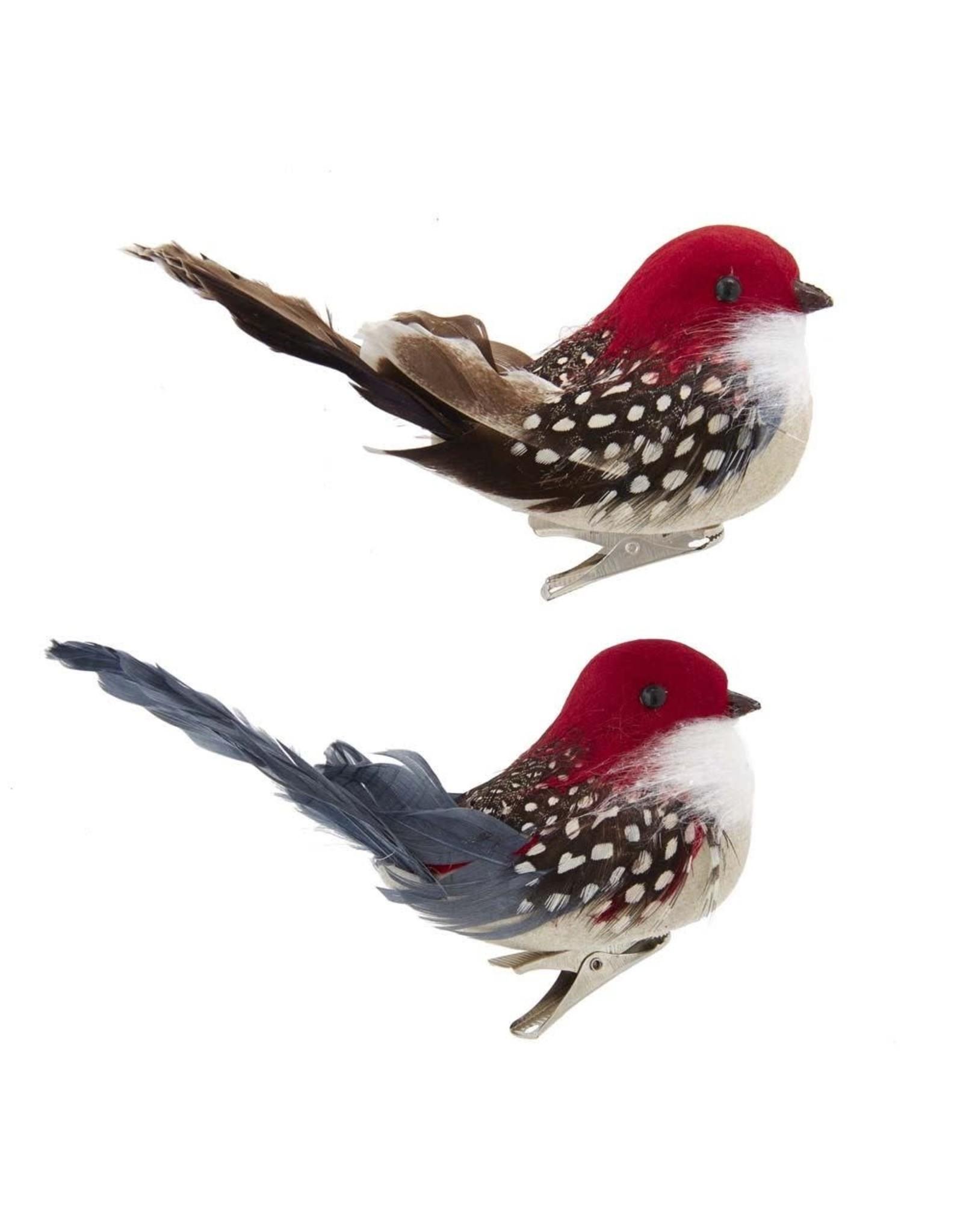Kurt Adler Bird Clip-On Ornaments 2 Assorted