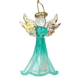 Kurt Adler Crystal Birthstone Angel Ornaments DECEMBER