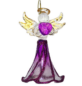 Kurt Adler Crystal Birthstone Angel Ornaments FEBRUARY