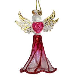 Kurt Adler Crystal Birthstone Angel Ornaments JULY