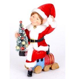 Karen Didion Train Elf Christmas Collectible 10H