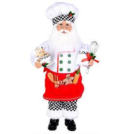 Karen Didion Baking Cookies Santa Christmas Collectible 17H