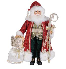 Karen Didion Lighted Jewel Traditional Elegance Christmas Santa 19H