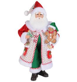 Karen Didion Whimsical Gingerbread Santa 19H
