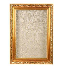 Karen Didion Santa Shadowbox Gold Frame Decoration 23 Inch