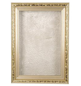 Karen Didion Santa Shadowbox Silver Frame Decoration 23 Inch