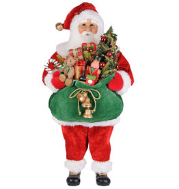 Karen Didion Lighted Bearing Gifts Santa Christmas Collectible 37H
