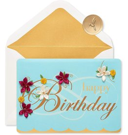 PAPYRUS® Birthday Card Embroidered Flower