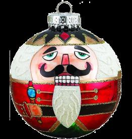 Kurt Adler Christmas Glass Nutcracker Ball Ornaments 80MM