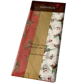 PAPYRUS® Christmas Tissue Paper 9 Sheets Trio Deck The Halls