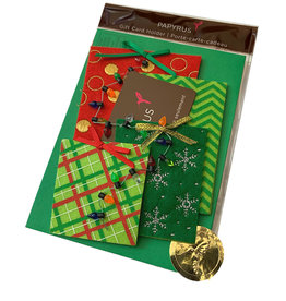 PAPYRUS® Christmas Gift Card Holder Die Cut Felt Christmas Presents
