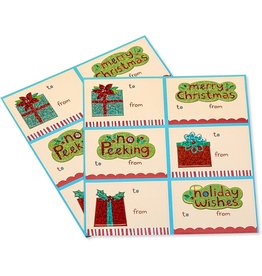 PAPYRUS® Christmas Gift Labels 12 To From No Peeking Gift Labels 3x2