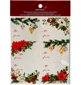 PAPYRUS® Christmas Gift Labels 12 To From Deck The Halls Gift Labels 3x2