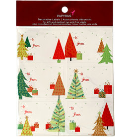 PAPYRUS® Christmas Gift Labels 12 To From Festive Trees Gift Labels 3x2