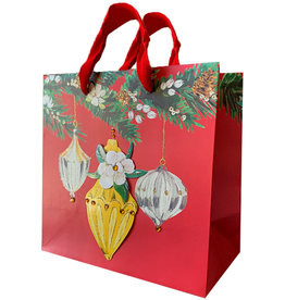 PAPYRUS® Christmas Gift Bag Medium 8.5x8.5x4.5 Deck The Halls BU