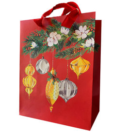 PAPYRUS® Christmas Gift Bag LG 10x13x5.75 Deck The Halls BU